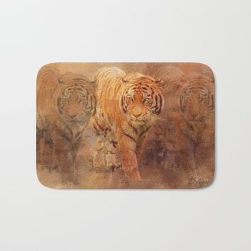 Tiger Spirit Bath Mat by Theresa Campbell D'August Art