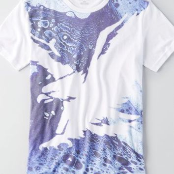 AEO Men's Eagle Graphic T-shirt (Splash)