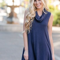 Susie Navy Sleeveless Dress