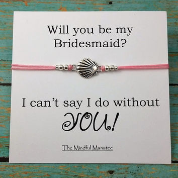 Bridesmaid Bracelets | Bridesmaid Gift | Seashell Bracelet | Will You Be My Bridesmaid Card | Beach Wedding | Bridal | Wedding