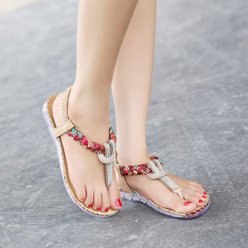 Summer Women Sandals Sexy Beach Shoes Thong Sandals for Girls Bohemia Sandals Woman Plus Size