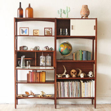 Mid Century Modern Wall Unit Bookshelf