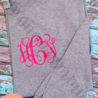 DiY Iron-On Monogram. Great for T-Shirts, Sweaters, Tank Tops, Totes and More!