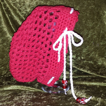 Slouchy Hat with Beads Preteen to Adult
