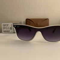 RAY BAN SUNGLASSES RB4440N 6355/XO Frame Black White/Gray Lenses