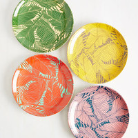 Let's Be Fronds Plate Set