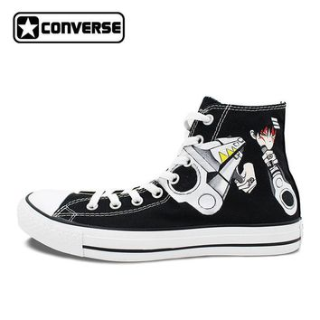 Anime Converse All Star Soul Eater Design Hand Painted Sneakers