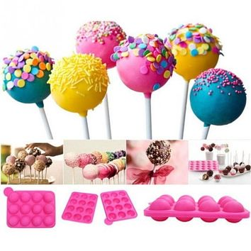 Hot sales Pop Chocolate Cake Mold, Cookie Lollipop Lolly Candy Making Mould for cake Decoration Tools