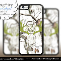 Olive Green Antlers Monogram iPhone 5C 6 Plus Case Browning iPhone 5s iPhone 4 case Ipod White Camo Deer Personalized Country Inspired Girl