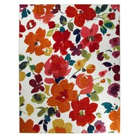 Bright Floral Painterly Rug