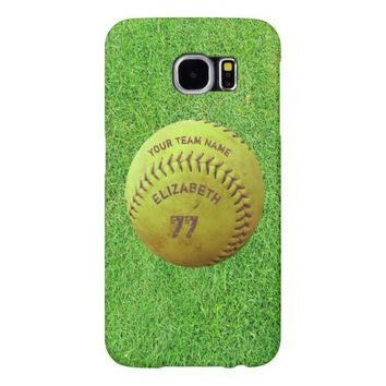 Softball Dirty Name Team Number Ball Phone Case Samsung Galaxy S6 Cases