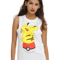 Pokemon Pikachu Poke Ball Girls Muscle Top