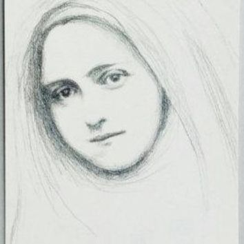 St Therese of Lisieux Pencil Sketch Set of Twelve Postcards