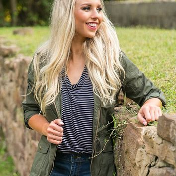 City Sights Cargo Jacket in Olive