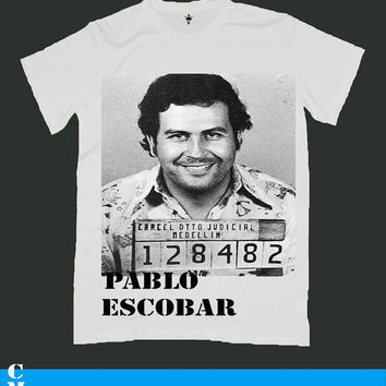 PABLO ESCOBAR screen print men t shirt ety10M