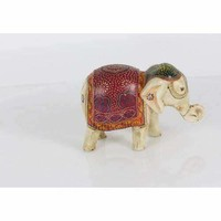 Adorable Paper Mache Elephant Statue