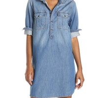 Lucky Brand Denim Popover Utility Dress