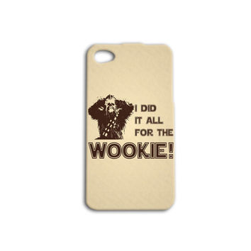 Chewbacca Wookie Star Wars Funny Custom Case for iPhone 5/5s and iPhone 4/4s