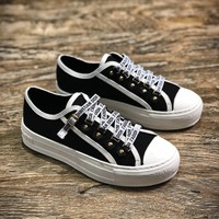 J A-dior 2018 Christian Dior J Adior Antique Gold White Low Sneakers - Sale
