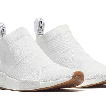 Adidas NMD CS1 Triple White Gum City Sock Primeknit Boost Sz 9,10 & 10.5 BA7208