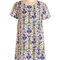 Festival Short Sleeves Shift Amour Where That Came From Dress