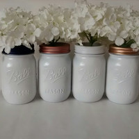 Painted Mason jars..set of 2
