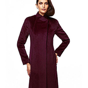 Katherine Kelly Alpaca-Blend Dress Coat - Amethyst