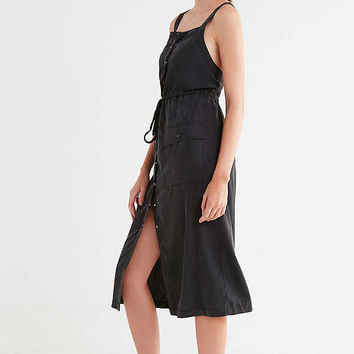 UO Addison Apron Button-Down Midi Dress | Urban Outfitters