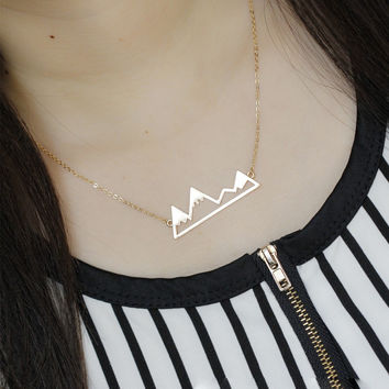 Dainty Snowy Mountain Top Necklaces for Women Snowcap Mountain Jewelry Necklace For Women Fine Jewelry 8714