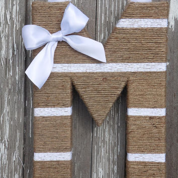 Twine Letter/Rustic decor/color