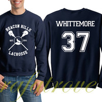 Whittemore Sweatshirt Beacon Hills Teen Wolf 37 Number Unisex Sweatshirts - RT108