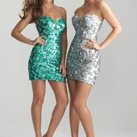 Night Moves 6748 Short Sequin Dress