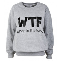 WTF - Where's The Food Sweatshirt