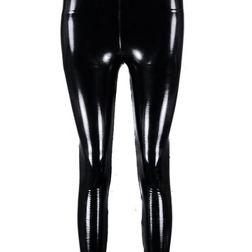 High Shine Vinyl Leggings | Boohoo