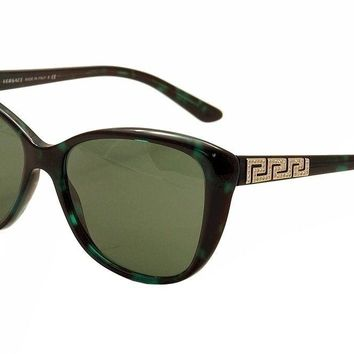 Versace Women's 4264B 4264/B 5076/71 Green Havana/Gold Cat Eye Sunglasses 57mm