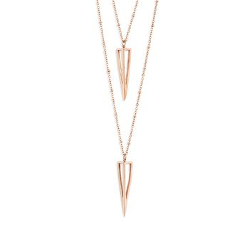 Double Strand Point Necklace