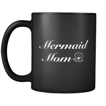 Mermaid Mom Black Mug
