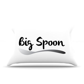 "KESS Original ""Big Spoon"" Couples Pillow Case"
