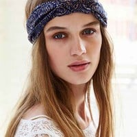 Navy Baroque Headwrap- Navy One