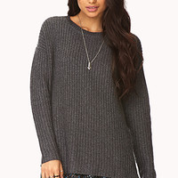 FOREVER 21 Borrowed-From-The-Boys Knit Sweater