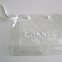 CHANEL Makeup Clear Travel Bag / Clutch