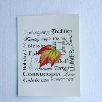 Set of 20 Thanksgiving Cards -  Thanksgiving Thank You Cards