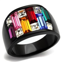 Rays of Color Black Ring