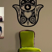 Hamsa Hand Decal Sticker Wall Vinyl Art Blessings Power Strength