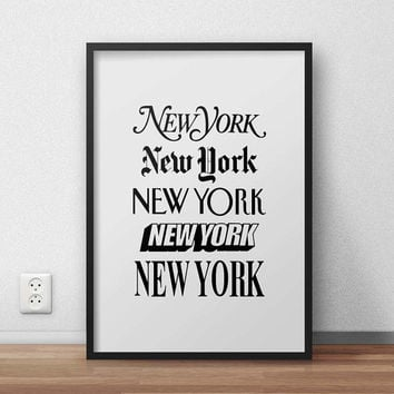 New York More, (Instant Download) , 300 dpi, Popular Digital Art, Decoration