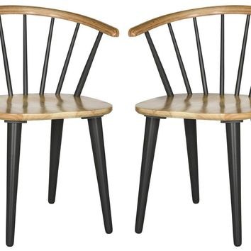 Blanchard Curved Spindle Side Chair Natural / Grey (Set of 2)