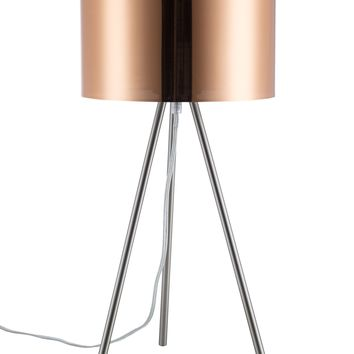 Euro Style Collection Lisboa 25 Inch Tripod Copper Shade Table Lamp