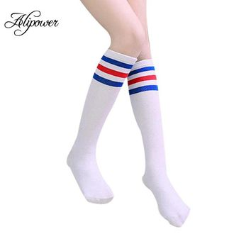 Stockings Cotton Tights For Girls Knee High Socks stripes