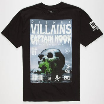 Neff Disney Villains Skull Rock Mens T-Shirt Black  In Sizes