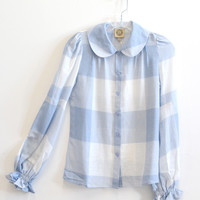 Baguette shirt - blue check